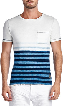 Cult of Individuality Men's Crewneck Ombre Stripes Tee