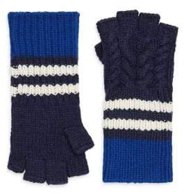 Burberry Chunky Cable Fingerless Gloves