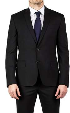 Luciano Barbera Club Men's Two Button Wool Suit Black.