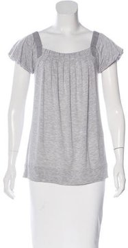 adidas by Stella McCartney Cap Sleeve Pleated Top