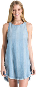 Bella Dahl Side Button Dress-Blue Spring Wash-XS