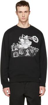 McQ Black Motorcycle Clean Sweatshirt