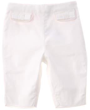 Chicco Girls' White Piquet Capri Pant