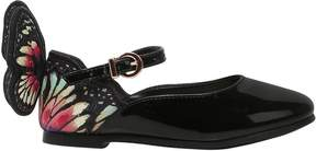 Sophia Webster Chiara Embroidered Patent Leather Flats