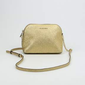 Michael Kors Large Dome Crossbody Gold