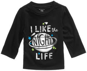First Impressions Night Life-Print Cotton T-Shirt, Baby Boys (0-24 months), Created for Macy's