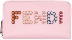 Fendi Pink Long 2 Jours Logo Zip Around Wallet