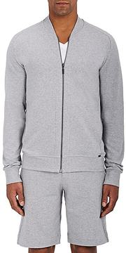 Hanro Men's Living Stretch-Cotton Bomber Jacket