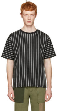 3.1 Phillip Lim Black Pinstripes T-Shirt