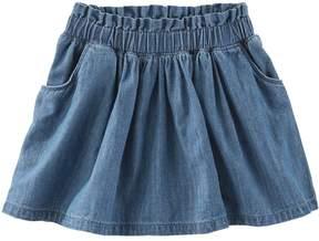 Osh Kosh Girls 4-8 Chambray Skirt