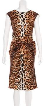 Christian Dior Silk Leopard Print Dress
