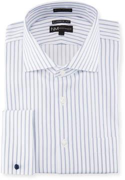 Neiman Marcus Classic-Fit Regular Finish Striped Dobby Dress Shirt