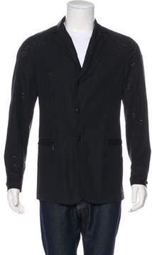 Bottega Veneta Distressed Zip Jacket