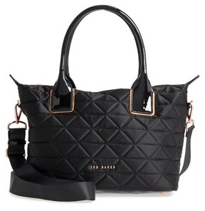 Ted Baker Herlia Small Quilted Tote - Black
