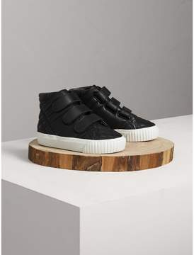 Burberry Quilted Leather High-top Trainers