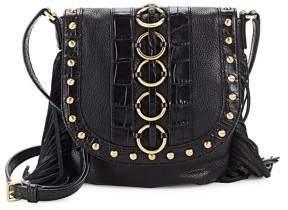 Donna Karan Bobbi Studded Leather Crossbody Bag