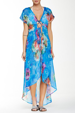 Beach Bunny Wave Lengths Floral Cover-Up Dress