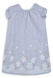 Lili Gaufrette Baby's Embroidered Chambray Dress