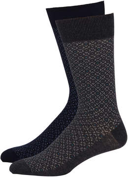 Zanella Men's Birdseye Socks, Two Pack