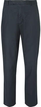 Folk Tapered Pleated Cotton Trousers