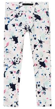 Ikks White Paint Splattered Jeans
