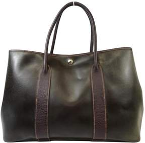 Hermes Garden Party leather tote - BURGUNDY - STYLE