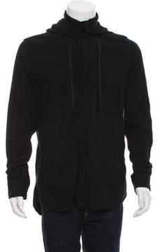Ann Demeulemeester Flannel Button-Front Hoodie