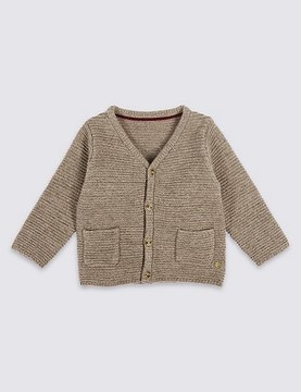 Marks and Spencer Long Sleeve Cardigan with Cashmere