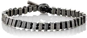 M. Cohen Men's Rectangular-Beads & Knotted Cord Bracelet
