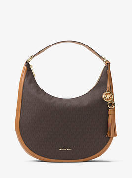 Michael Kors Lydia Logo Shoulder Bag - BROWN - STYLE