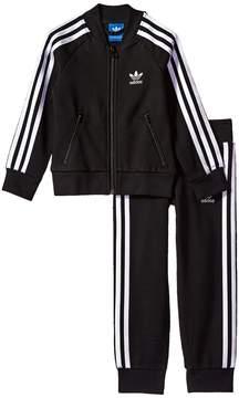 adidas Kids Superstar Fleece Tracksuit Girl's Suits Sets