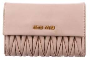 Miu Miu Matelassé Nappa Leather Wallet