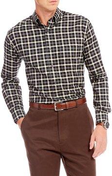 Daniel Cremieux Signature Big & Tall Check Heather Long-Sleeve Woven Shirt