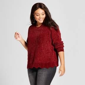 Ava & Viv Women's Plus Size Chenille Pullover Sweater