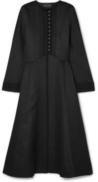 Etro Satin-jacquard Coat - Black