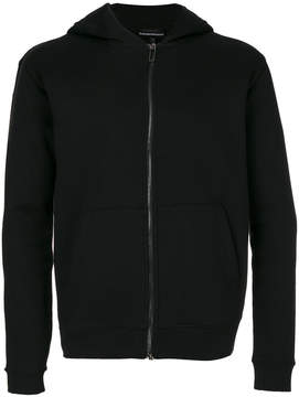 Emporio Armani logo panel hooded jacket