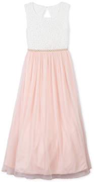 Speechless Big Girls Plus Glitter Lace Maxi Dress