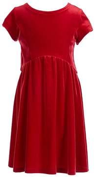 Copper Key Big Girls 7-16 Plaid Lace-Up Back Velvet Dress