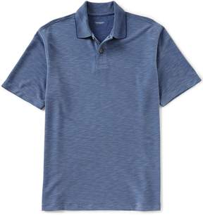 Roundtree & Yorke Big and Tall Short-Sleeve Solid Slub Polo Shirt