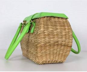 Kate Spade Neon Green Cherry Valley Adeline Basket Tote