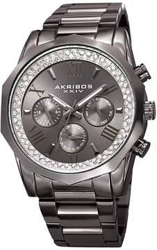 Akribos XXIV Men's Multifunction Gunmetal Dial Watch, 45mm
