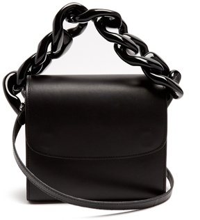 MARQUES'ALMEIDA Oversized curb-chain leather shoulder bag