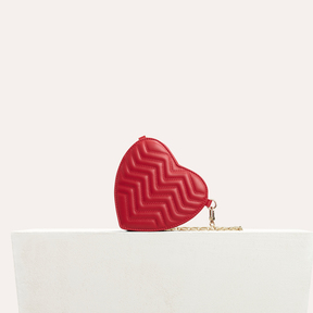 Maje Quilted leather heart-shaped saddle bag