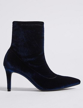 Marks and Spencer Stiletto Heel Side Zip Ankle Boots