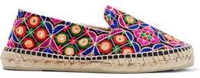 Manebi Embellished Woven Espadrilles
