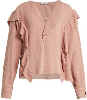 Etoile Isabel Marant Wally long-sleeved ruffle-trimmed top