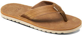 Reef Bronze Brown Voyage Le Leather Flip-Flop - Men
