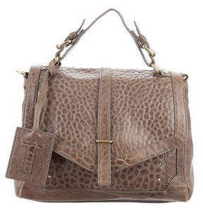 Tory Burch 797 Textured Leather Satchel - BROWN - STYLE