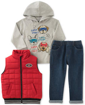 Kids Headquarters 3-Pc. Hooded Shirt, Vest & Pants Set, Toddler Boys (2T-5T)