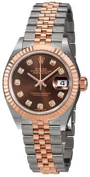 Rolex Lady Datejust Chocolate Diamond Dial Automatic Ladies Watch